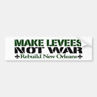Haga la guerra de los diques no pegatina de parachoque
