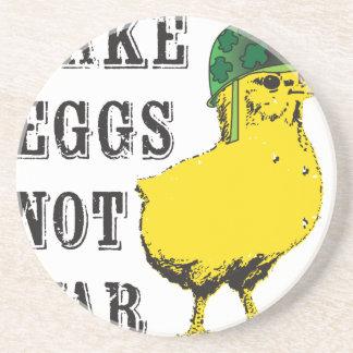 Haga la guerra de los huevos no posavasos diseño