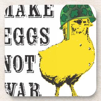 Haga la guerra de los huevos no posavasos de bebidas