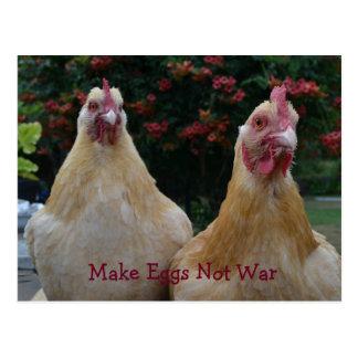 Haga la guerra de los huevos no… Pulimente la Tarjeta Postal