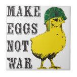 Haga la guerra de los huevos no teja  ceramica