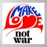 Haga la guerra del amor no impresiones