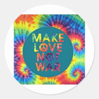 haga la guerra del amor no pegatina