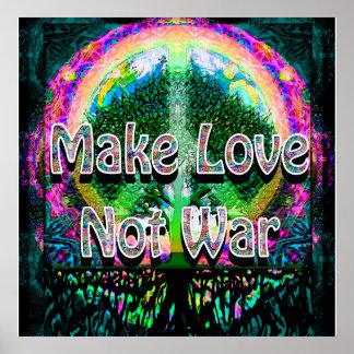 Haga la guerra del amor no póster