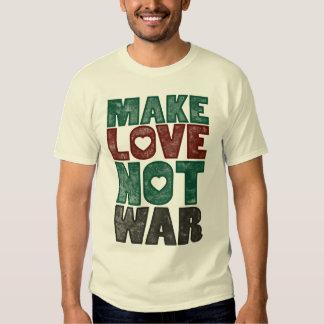 Haga la guerra del amor no, vintage polera