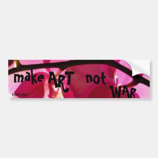 Haga la guerra del arte no pegatina de parachoque
