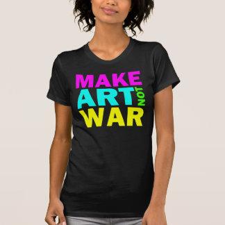 Haga la guerra del arte no (el color) remera