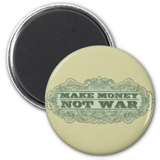 Haga la guerra del dinero no imán redondo 5 cm