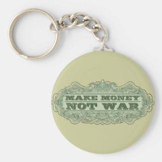 Haga la guerra del dinero no llavero redondo tipo pin