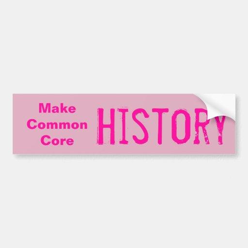 Haga la historia de la base común etiqueta de parachoque
