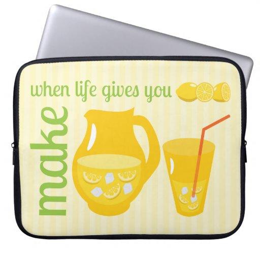 Haga la limonada fundas computadoras
