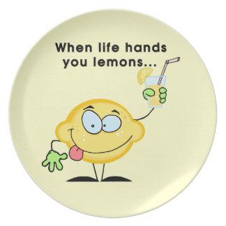 Haga la limonada plato de cena