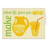 Haga la limonada tarjeta pequeña