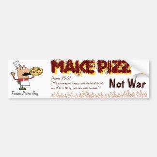 haga la pizza pegatina de parachoque