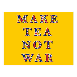 Haga la postal de la guerra del té no