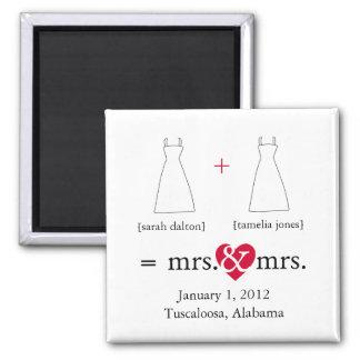 Haga la reserva de la lesbiana de la matemáticas e imán de frigorífico