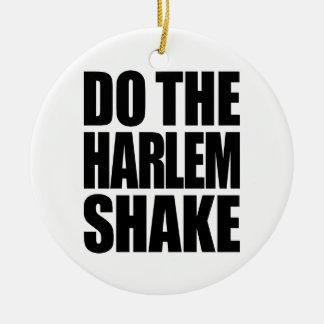 Haga la sacudida de Harlem Adorno Navideño Redondo De Cerámica