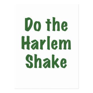Haga la sacudida de Harlem Tarjeta Postal