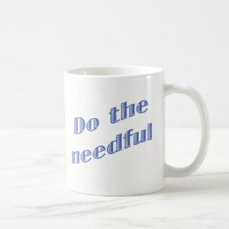 Haga la taza azul necesaria