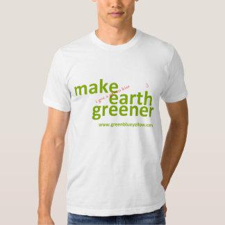 haga la tierra más verde consiguió un beso verde remera