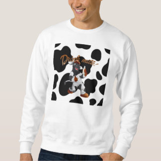Haga la vaca de leche de la bebida de las vacas pulóvers sudaderas