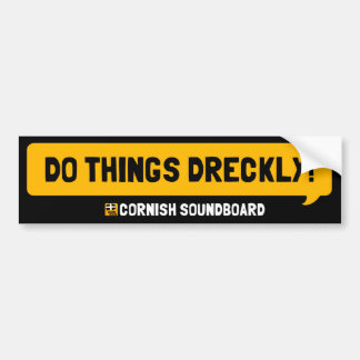 ¡Haga las cosas Dreckly! Un Sti de Cornualles del  Pegatina Para Auto
