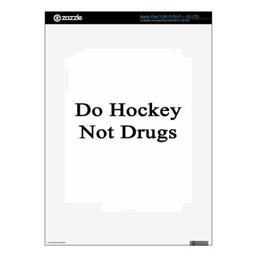 Haga las drogas del hockey no iPad 3 skin