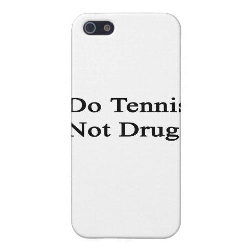 Haga las drogas del tenis no iPhone 5 cobertura