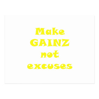 Haga las excusas de Gainz no Tarjetas Postales
