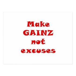 Haga las excusas de Gainz no Postales