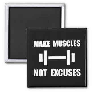 Haga las excusas de los músculos no imán cuadrado