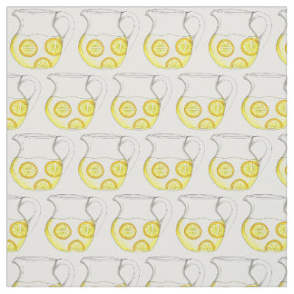 Haga las jarras de la limonada con la tela de los telas