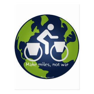 Haga las millas, no guerra tarjetas postales