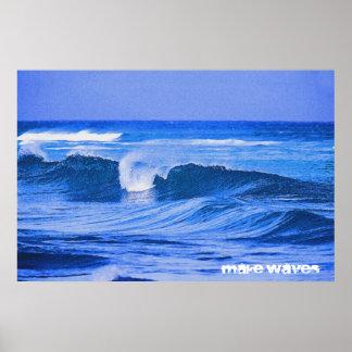 Haga las ondas el alto poster de la marea 36 x 24 póster