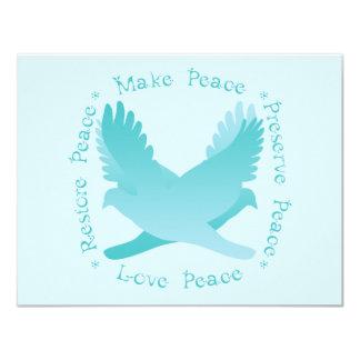 """Haga las paces, restaure la paz, coto, paz del invitación 4.25"""" x 5.5"""""""