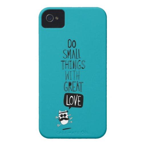 Haga las pequeñas cosas con gran amor iPhone 4 cárcasa
