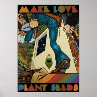 Haga las semillas de la planta del amor - poster d
