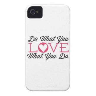 Haga lo que usted ama blanco iPhone 4 cárcasa