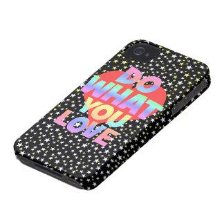 haga lo que usted ama Case-Mate iPhone 4 funda