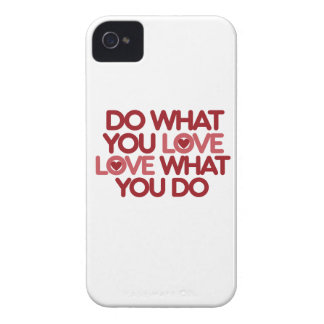 Haga lo que usted ama Case-Mate iPhone 4 fundas