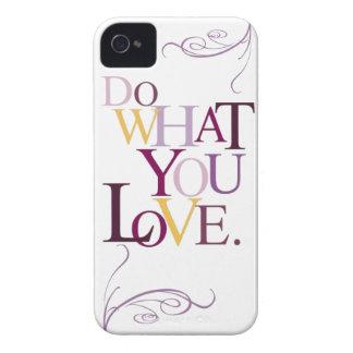 Haga lo que usted ama el caso del iPhone iPhone 4 Case-Mate Cobertura
