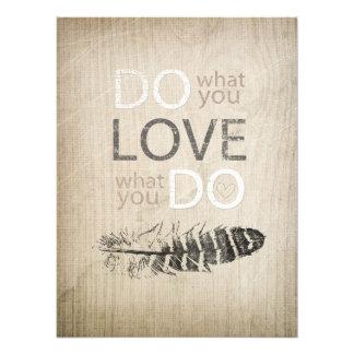 Haga lo que usted ama la pluma del | e inspirado fotografias