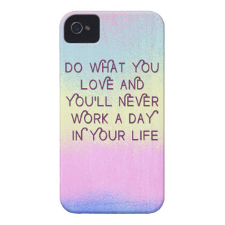 Haga lo que usted ama los casos de motivación de l iPhone 4 Case-Mate cárcasa