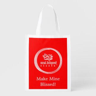 ¡Haga los míos Blissed! Bolso reutilizable Bolsa Reutilizable