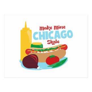 Haga los míos el estilo de Chicago Postales