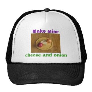 Haga los míos el queso y la cebolla gorro de camionero