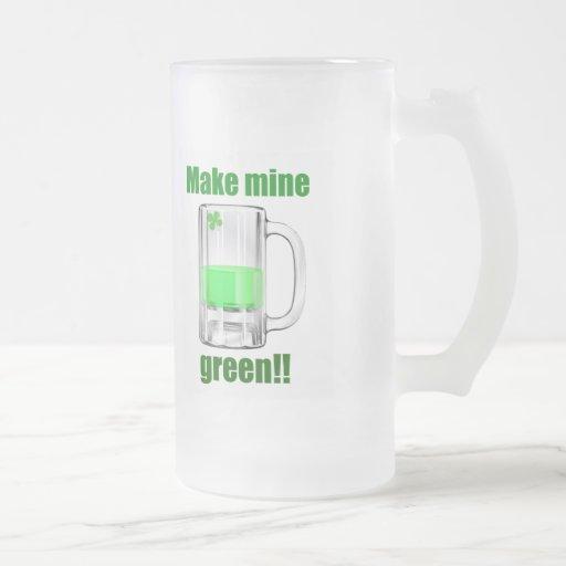Haga los míos la taza del día de St Patrick verde
