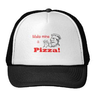 ¡Haga los míos una pizza! Gorro De Camionero