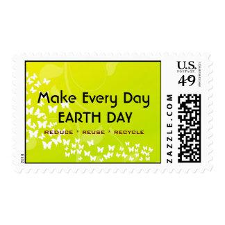 Haga los sellos cada del día del DÍA DE LA TIERRA