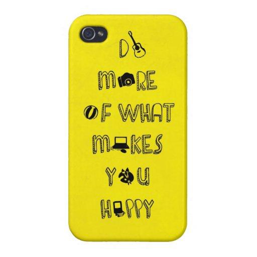 Haga más de qué le hace citas felices iPhone 4/4S funda